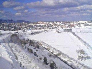 稚内北星学園から見た雪景色