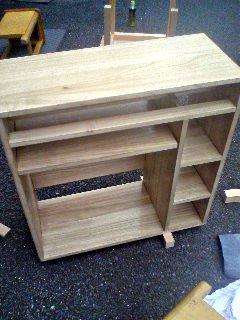 木材加工の授業で制作したサイドテーブル
