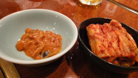 塩辛とキムチ